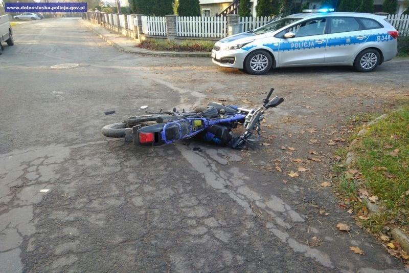 Motocyklista zatrzymany po pościgu