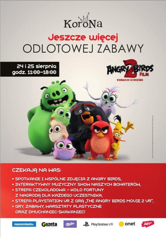"""Spotkanie z""""Angry Birds 2 Film"""" wCentrum Korona"""
